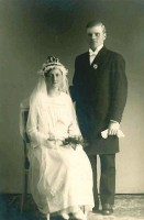 Astrid and Birger, wedding 1922
