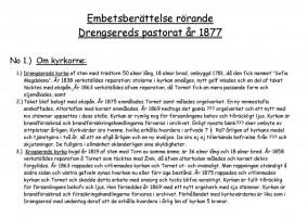 Ämbetsberättelse rörande Drängsereds pastorat, 1877, sid 4 (18)