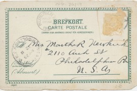 Vykort 1902. Skickat till USA.