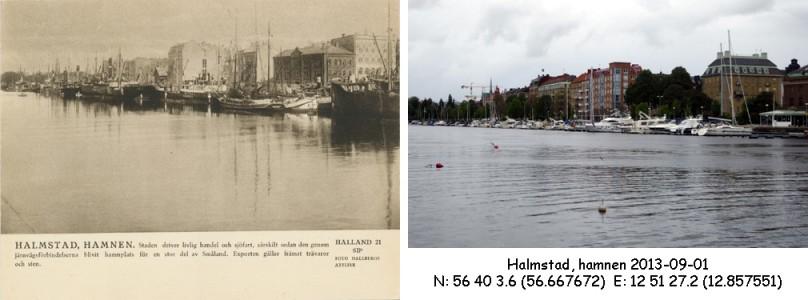 STF vykort nr 21 -HALMSTAD, HAMNEN