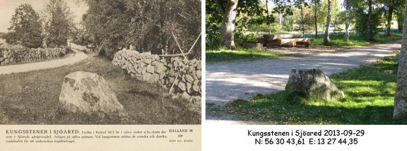 STF vykort nr 38 -KUNGSSTENEN I SJÖARED