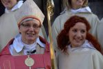 Bishop Antje Jackelén and Sofie.