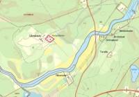 Ulvsbäcks prästgård, karta