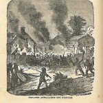 Indianer anfallande ett nybygge, sid 126