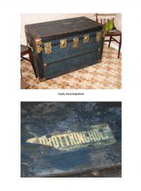 Kofferten som Karl använde vid sin resa till och från Amerika.