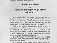 1933 Hederstecken bestämmelser a