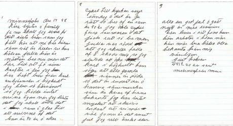 Brev till mormor från brodern Gustav i Minneapolis, 1958.