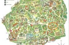 Här ligger Oktorpsgården på kartan över Skansen.