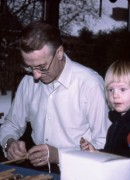 1983 Ljusstöpning i Gantofta, Göte och Linda