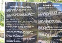 38 Informationstavla vid Ulvsbäcks prästgård