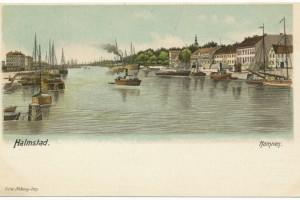 Halmstad, hamnen 1901