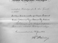 1933 Hederstegn for 8 aars tjenste