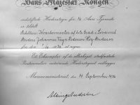 1936 Hederstegn for 16 aars tjenste