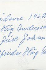 A J H-A Sigfrid Johansson Helfrida H-A 1962 baksida